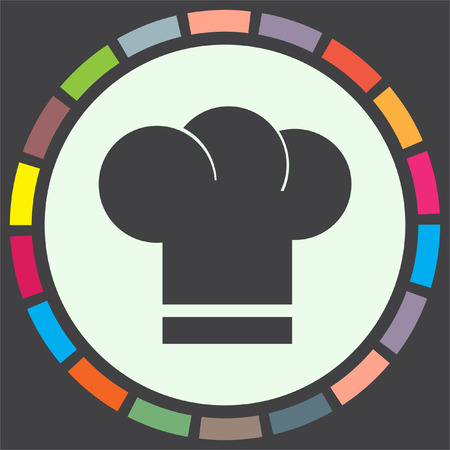 fine cuisine: Chef Hat vector icon. Cooking head wear sign. Restaurant symbol. Illustration
