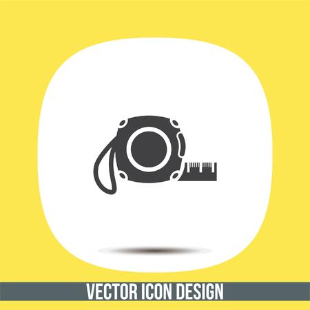 measurement tape: Measure tape vector icon. Measuring device sign. Construction measurement symbol Illustration