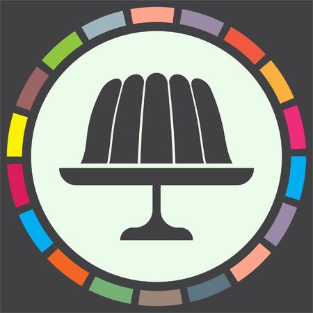gelatina: jalea budín de iconos de vectores. signo de gelatina. símbolo de la torta de postre dulce