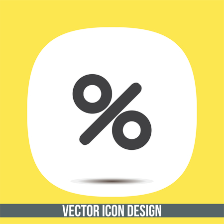 the percentage: Percent sign vector icon. Percentage sign. Discount label symbol Illustration