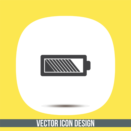 Battery vector icon. Energy power sign. Electricity charge symbol. Illustration