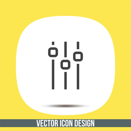 Sliders sign line vector icon. Settings vector icon. UI control media sound symbol. Illustration