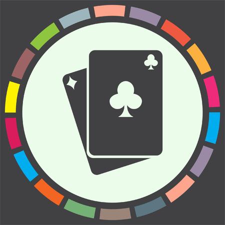 blackjack: Playing cards vector icon. Poker sign. Blackjack symbol