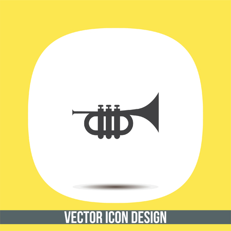 Trumpet vector icon. Horn sign. Music instrument symbol