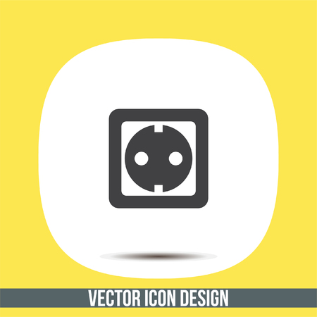 wall socket: Power socket vector icon. Electric outlet sign. Power plug symbol Illustration