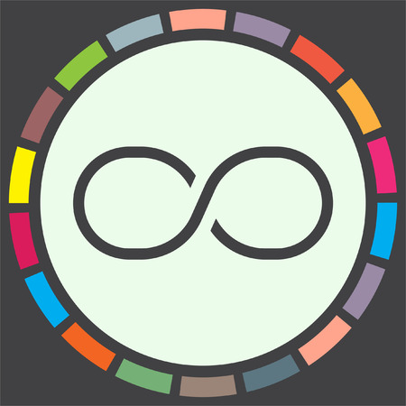 endless: Infinity sign line vector icon. Endless sign icon.