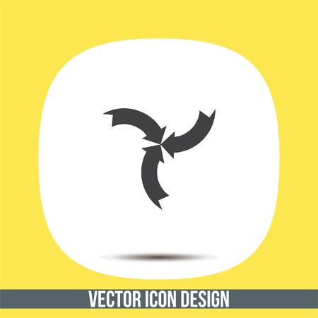 Arrow sign vector icon. Direction sign line icon.