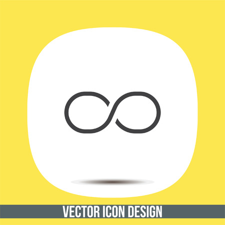 Infinity sign line vector icon. Endless sign icon.