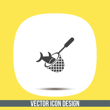 fishnet: Fishing Net vector icon. Fisherman equipment sign.