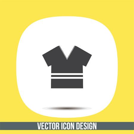 T Shirt vector icon. Designer apparel sign. V neck symbol
