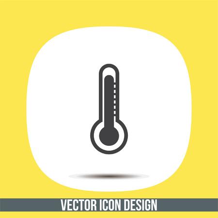 fahrenheit: Thermometer vector icon. Temperature measurement sign. Celsius and fahrenheit symbol Illustration