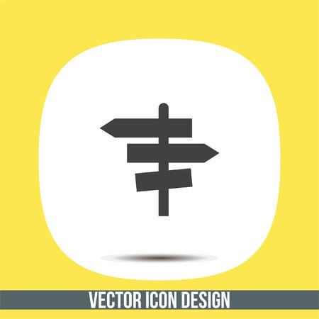 La señal de tráfico del vector del icono. signo de cruce. Guía de símbolos de señal Vectores