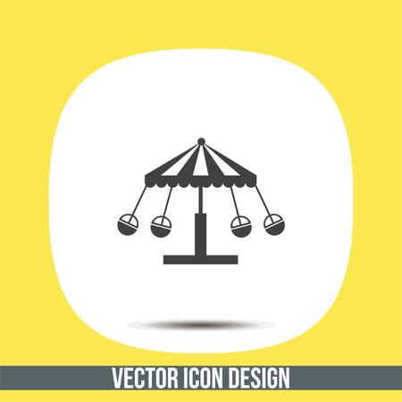 Merry go round vector icon. Carousel sign. Circus symbol