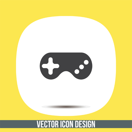 Game controller vector icon. Game pad sign. Joystick symbol