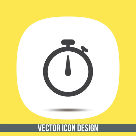 Stopwatch vector icon. Race sign. Accurate measurement of time symbol