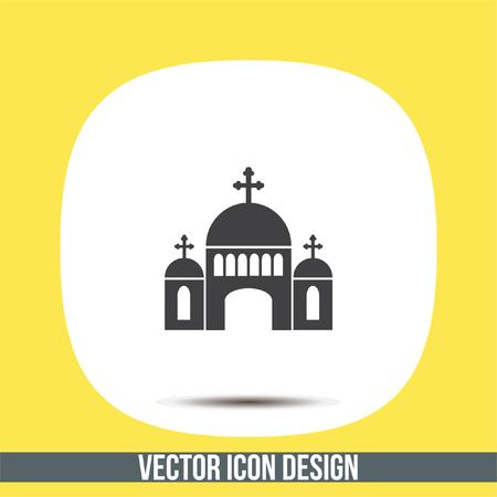 in monastery: Church vector icon. Monastery sign. Temple symbol. Religious building icon. Illustration