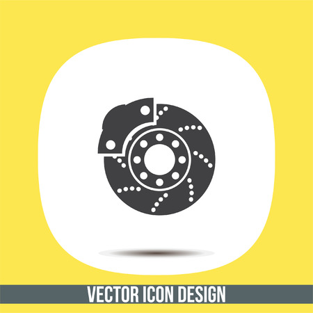 Car brakes vector icon. Vehicle repair service sign. Automobile part shop symbol. Illustration