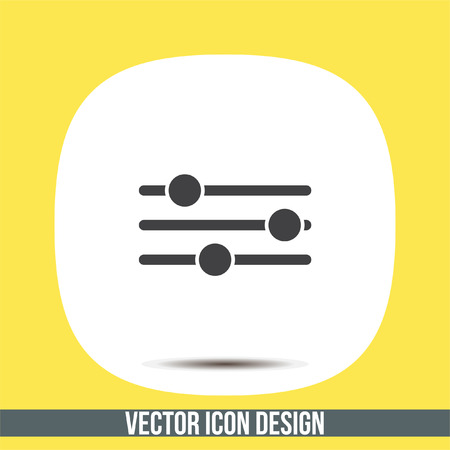 Sliders sign vector icon. Settings vector icon. UI control media sound symbol. Illustration