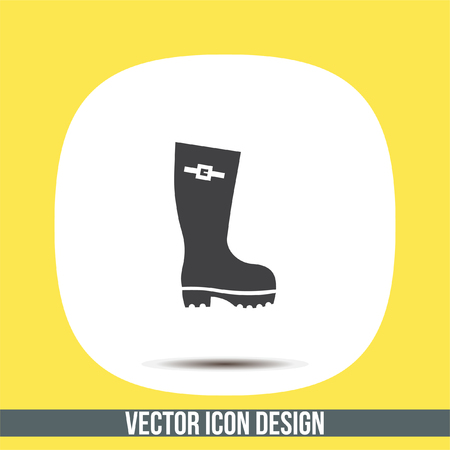 Rain boot vector icon. Rubber footwear sign. Gumboot symbol