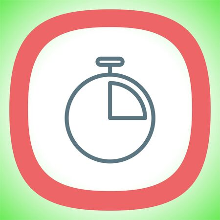 Timer sign line vector icon. Stopwatch sign vector icon. Sport competition symbol.
