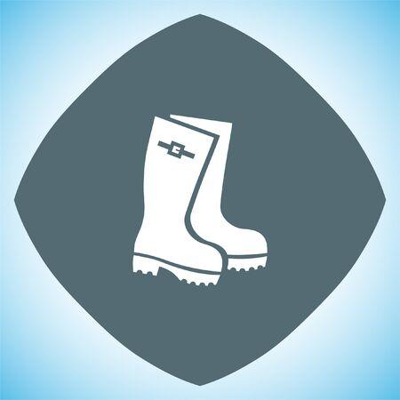 footwear: Rain boots vector icon. Rubber footwear sign. Gumboots symbol