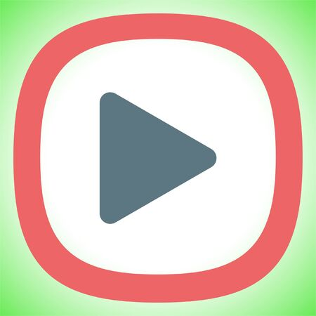 Play button sign vector icon. UI control play button Illustration