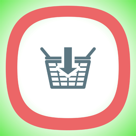 shopping chart: Add to shopping basket vector icon. On line shop sign. Web store purchase symbol.