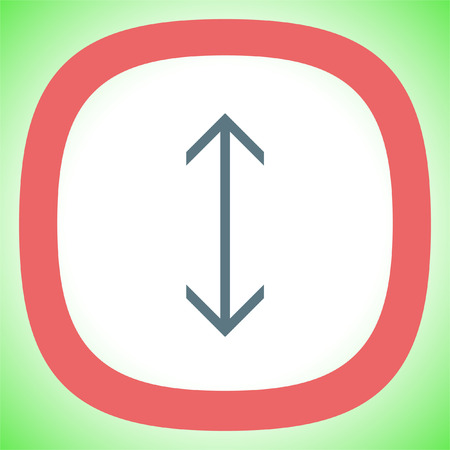 Arrows vertical sign line vector icon. Direction sign line icon. Illustration