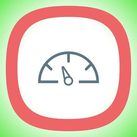 Dashboard line vector icon. Speedometer vector icon. Gauge symbol.