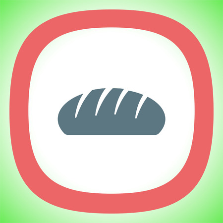 loaf: Bread vector icon. Bakery symbol. Breakfast sign.