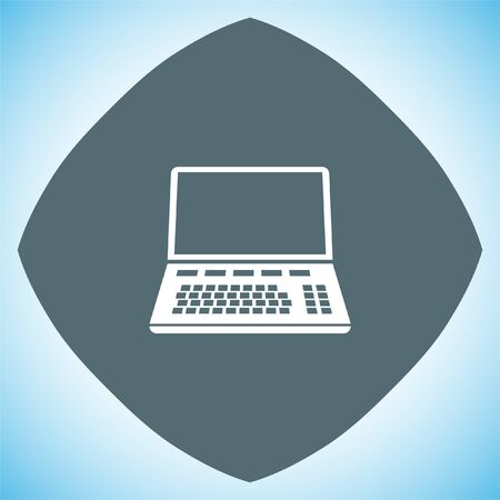 laptop keyboard: Lap top vector icon. Computer sign. Personal computer symbol Illustration