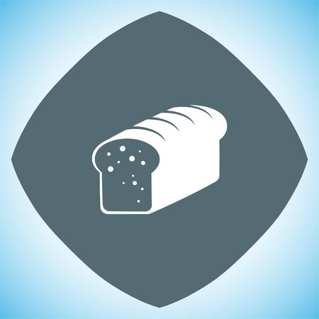 loaf: Toast bread vector icon. Whole grain food sign. Sweet loaf symbol. Bakery icon.