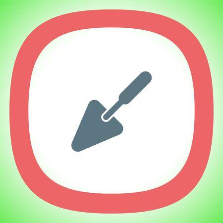 plastering: Trowel vector icon. Construction mason equipment. Plastering spatula symbol