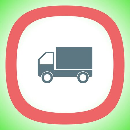 Delivery truck sign vector icon. Transportation car sign. Logistic service symbol.