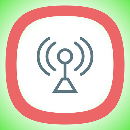 Signal strength sign line vector icon. Wi Fi signal vector icon. Wireless connection symbol. Illustration