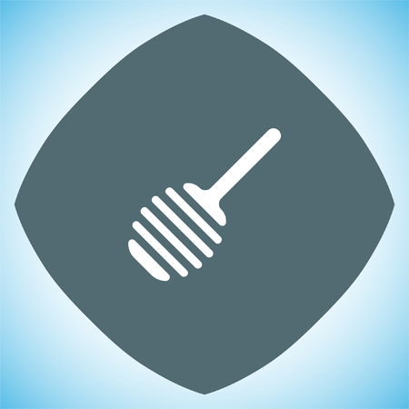 stick insect: Honey spoon vector icon. Sweet treat sign Illustration