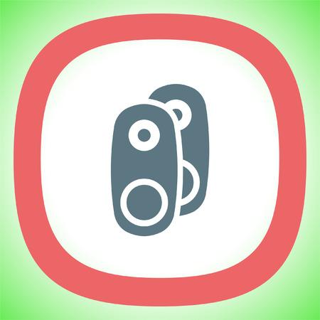 subwoofer: Audio Speakers vector icon. Audio sign. UI control Sound icon. Music symbol.