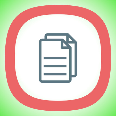 folio: Copy document line vector icon. Office file line sign. Business note sign. Illustration