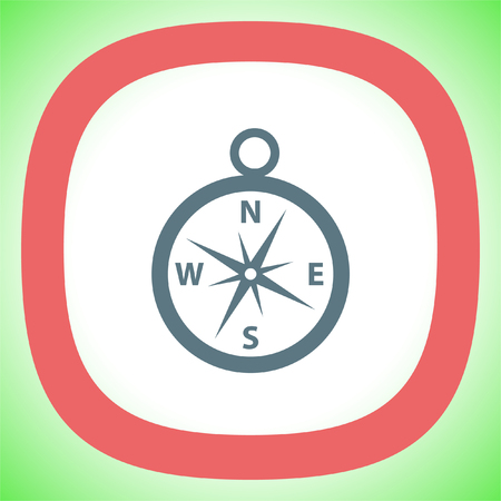 Compass vector icon. Navigation device sign. Direction shower symbol. Illustration