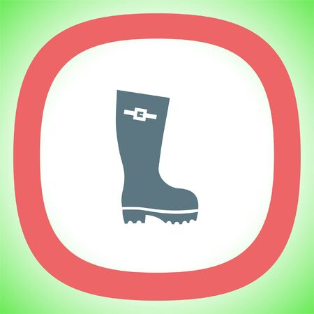 Rain boot vector icon. Rubber footwear sign. Gumboot symbol