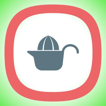 Citrus squeezer vector icon. Fruit juicer sign. Household juice maker symbol.