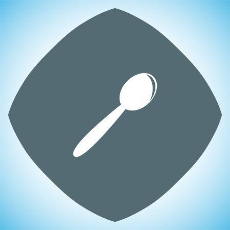Cuillère vecteur icône. signe Teaspoon. Cuisine symbole de l'argenterie
