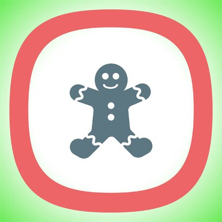 gingerbread cookie: Gingerbread vector icon. Cookie sign. Pastry symbol