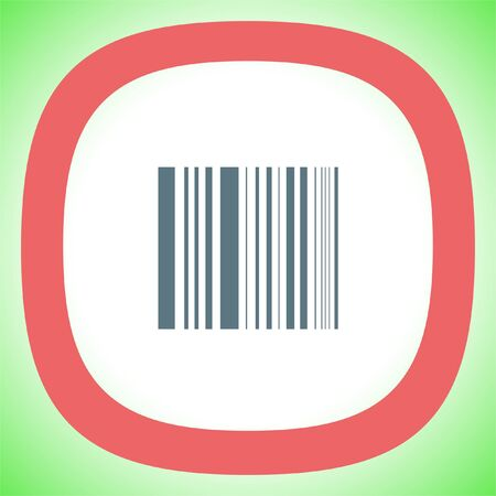 codigos de barra: Bar Code vector icon. Digital price label sign. Shopping symbol.