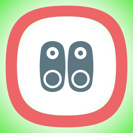 Audio Speakers vector icon. Audio sign. UI control Sound icon. Music symbol.