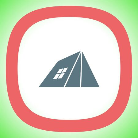 Camping Tent vector icon. Tourism in nature sign. Travel symbol. Illustration