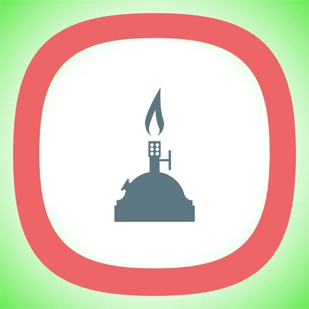 Laboratory burner vector icon. Lab equipment sign. Chemistry tool symbol Illustration