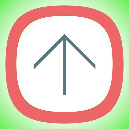 Arrow up sign line vector icon. Direction sign line icon. Illustration