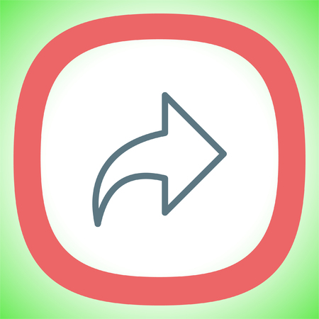 Next arrow sign line vector icon. Forward sign. Right direction symbol.