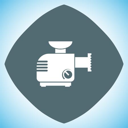 Meat grinder machine vector icon. Manual mincer sign. Butcher tool symbol